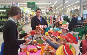 Nestle In Goonellabah learning about fruit and Vegetables